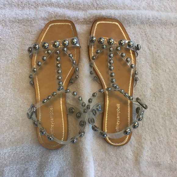 Jeffrey Campbell Amaryl Clear Studded